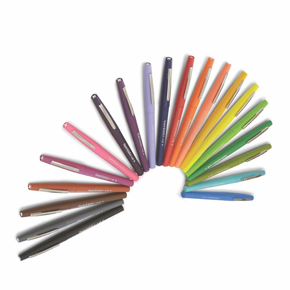 21 x Paper Mate Flair Felt Tip Pens, Medium Point