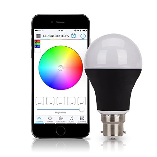 control lighting with iphone. Simple Lighting B22 Colour Changing Light Bulbs Bluetooth LED Bulb App Control Bayonet Base  Iphone Android Inside Lighting With