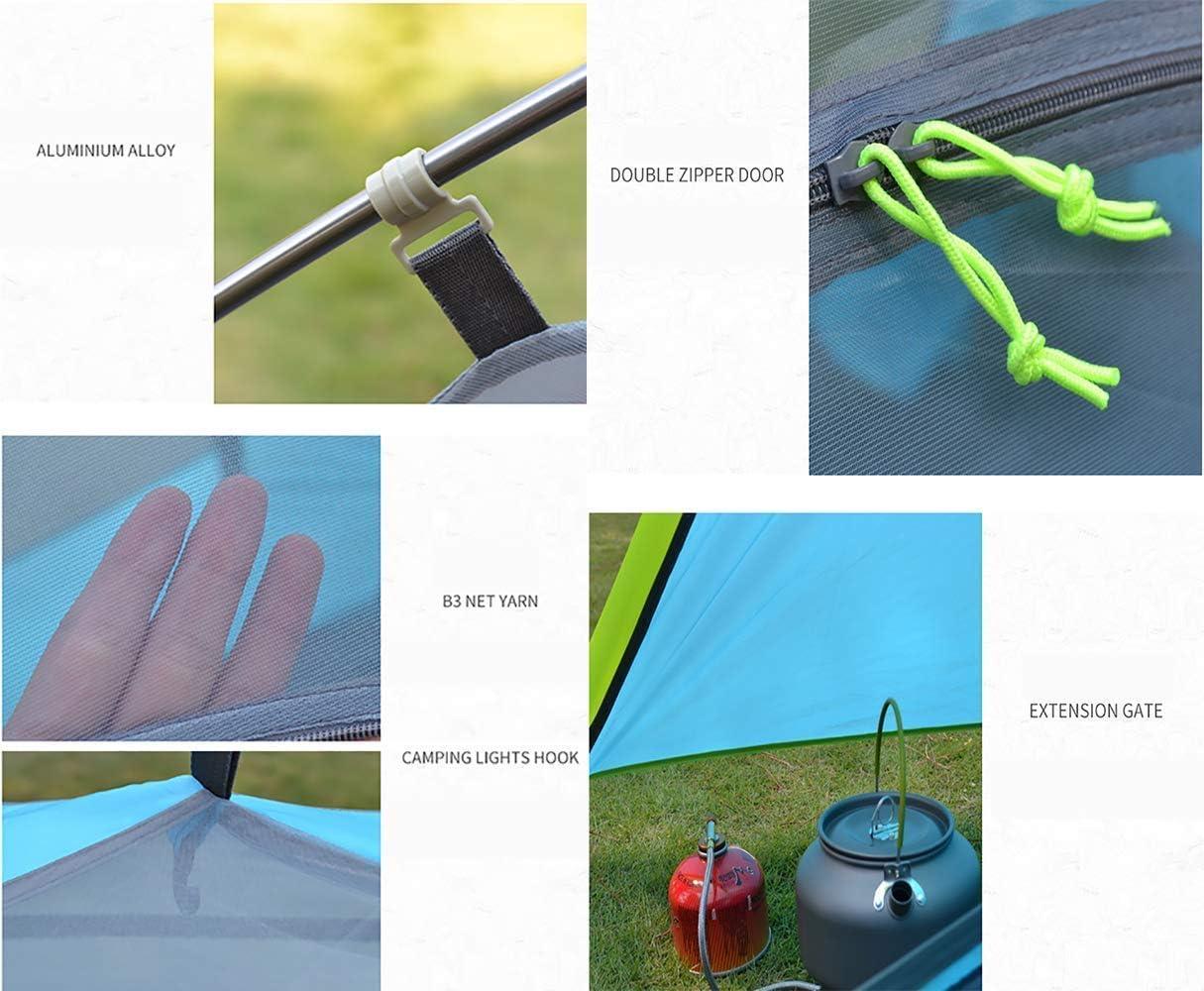 Tienda de campaña Plegable portátil para 2 Personas Carpas instantáneas Sun Shelter Impermeable para Deportes al Aire Libre Senderismo Viajes Rainfly Orange