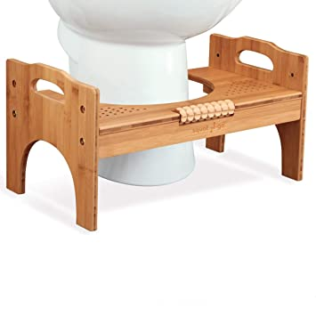 Stupendous Squat N Go 7 Or 9 Adjustable Bamboo Luxury Squatting Toilet Stool With Built In Foot Massager To Boost Blood Circulation Cjindustries Chair Design For Home Cjindustriesco