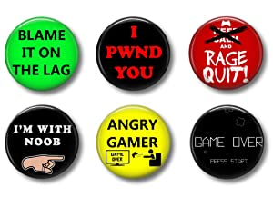 Video Game Gamer Magnets: Cute Locker Magnets for Boys and Girls (Gamer Talk)