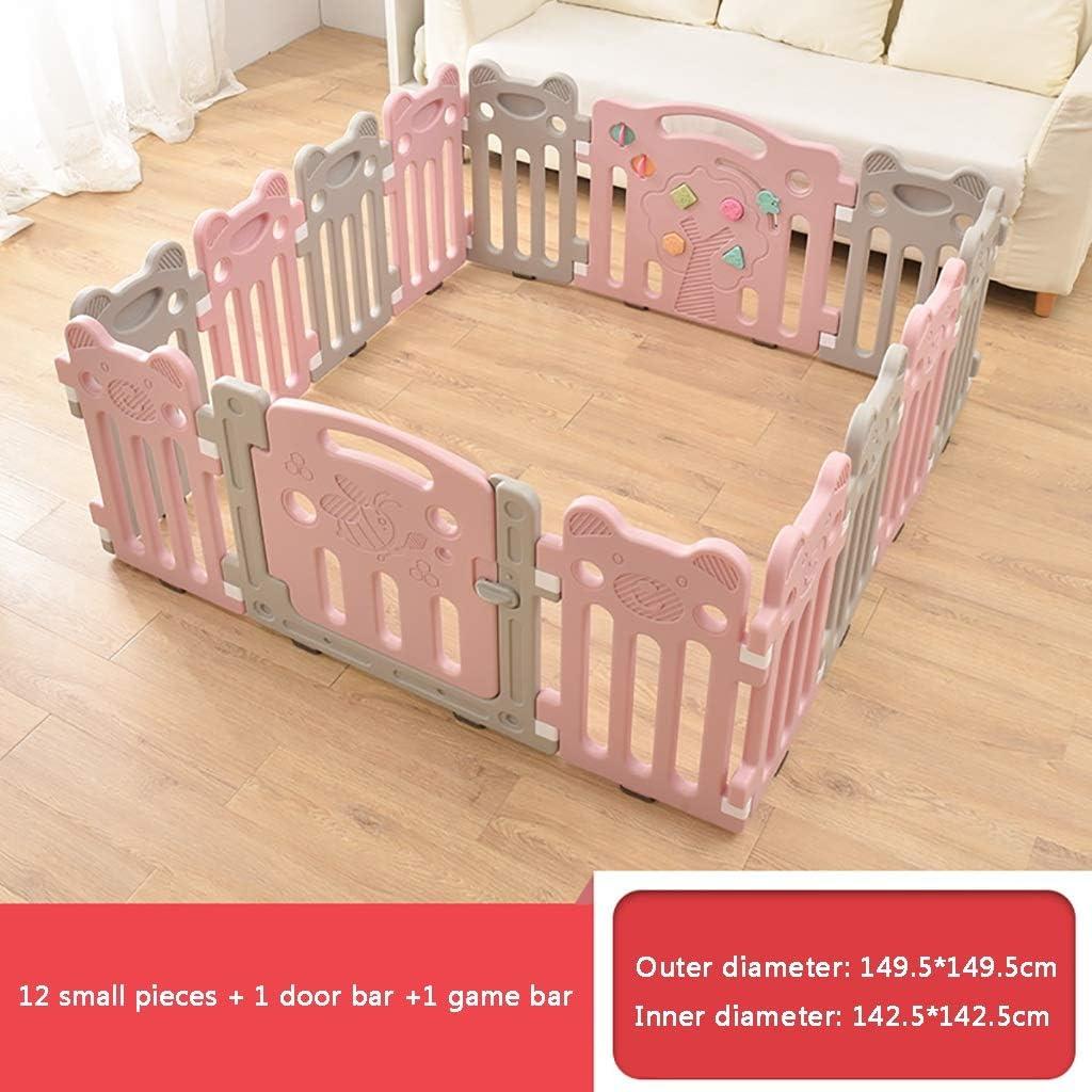 ベッドガード・フェンス ベビーゲート 赤ん坊のベビーサークルの城幼児 - 10の多彩なパネル - ドアのパネルおよび相互演劇のパネルを使って 子供用フェンス 子ども保護柵 (Color : B)