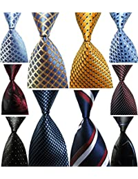 Lot 10 PCS Men's Ties 100% Silk Tie Woven Jacquard Neckties Classic Ties