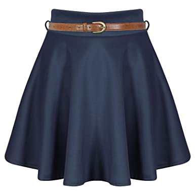 Paramount - Falda - para Mujer Azul Azul Marino XXL (48-50 ...