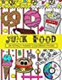 Junk Food Coloring Book: 24 Page Coloring Book