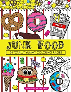 Junk Food Coloring Book 24 Page