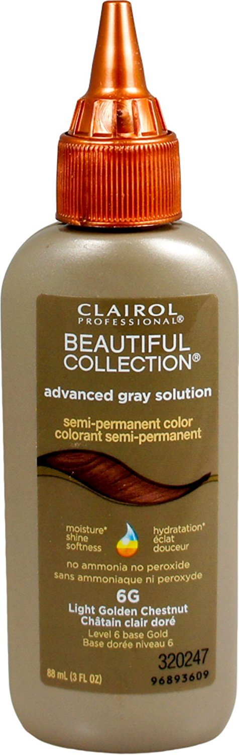 Clairol Professional Beautiful Collection Semi-permanent Hair Color, Light Golden Chestnut, 3 oz (Pack of 12) by Clairol