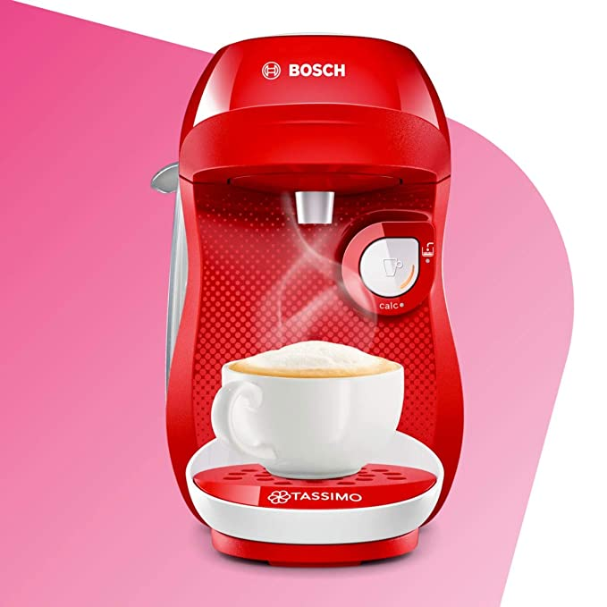 Bosch TAS1006 TASSIMO Happy Cafetera cápsulas, 1400 W, color rojo ...