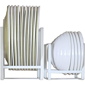 Amazon Com Vertical Plate Rack Display Or Storage Kitchen