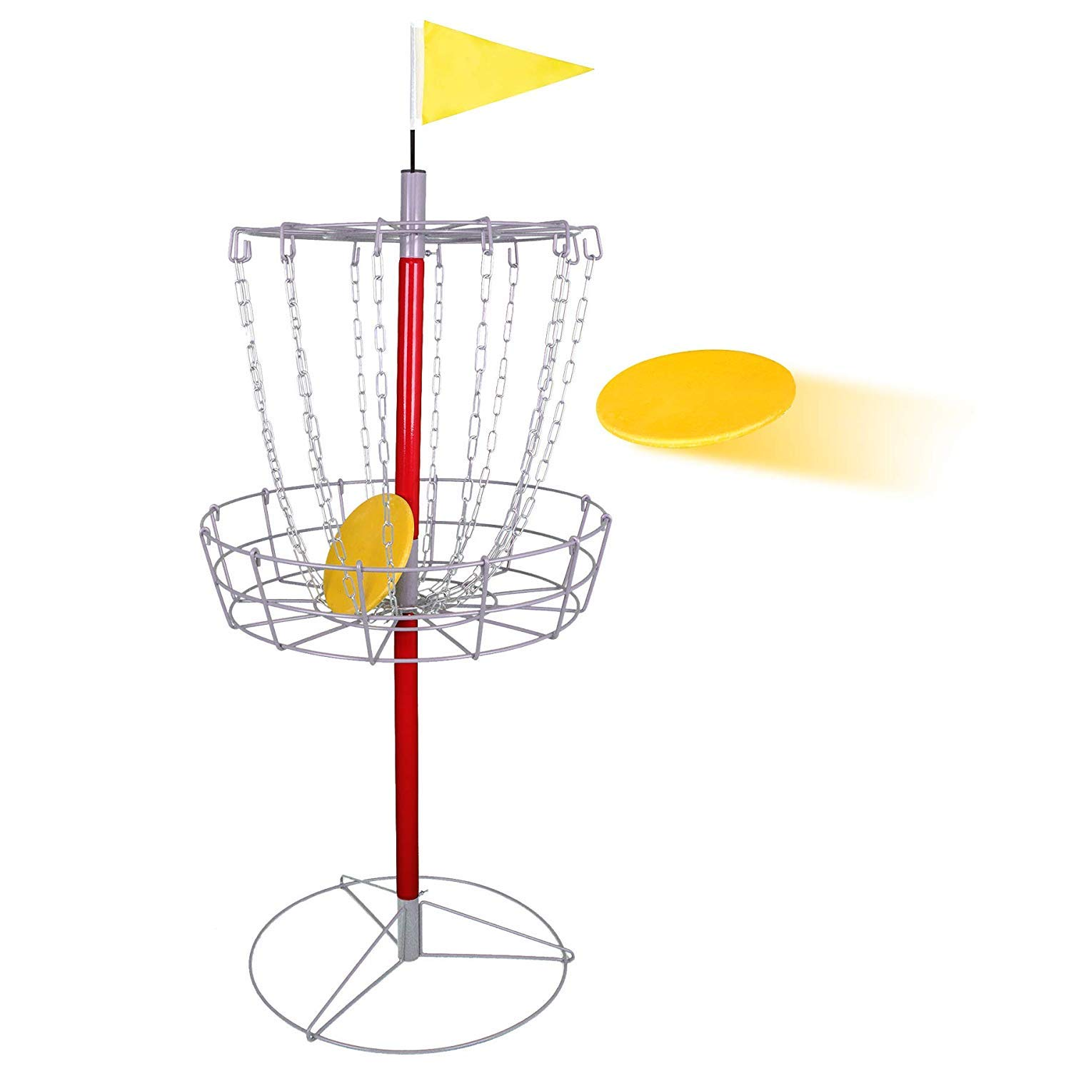 Oteymart Disc Golf Target Basket Goal Metal Portable Heavy Duty Frisbee Target Game Kit with Double Chains,Sport by Oteymart