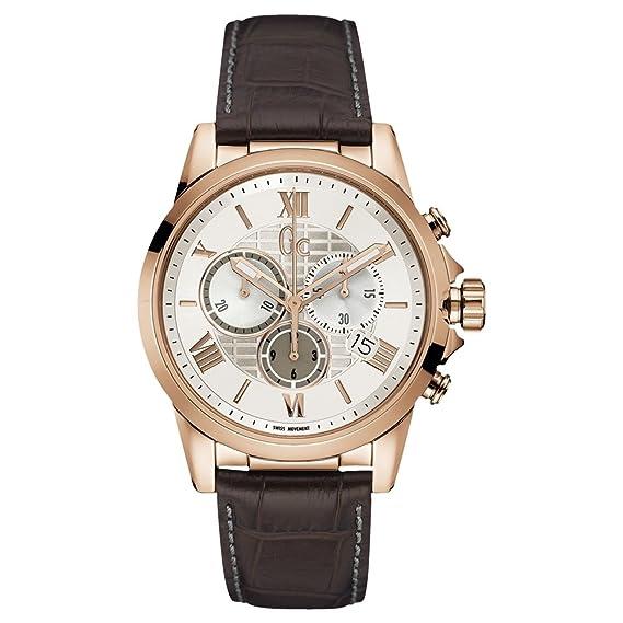 Gc - Guess collection esquire reloj de hombre cuarzo correa de cuero y08006g1