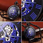 Steampunk Golden Gears Copper Case Skeleton Mechanical Pendant Pocket Watch with Chain/Gift Box 12