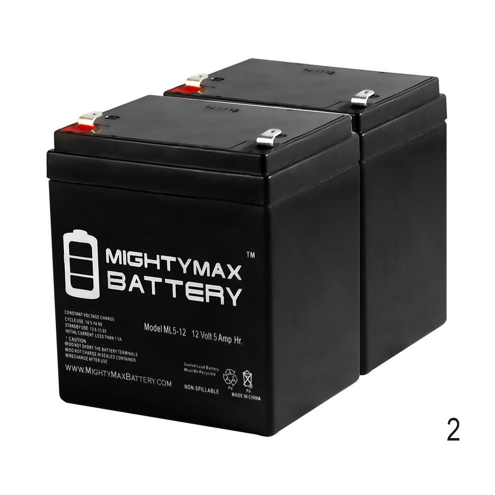 Mighty Max Battery 12V 5AH Battery for Razor E100 E125 E150 E175 Scooter - 2 Pack brand product