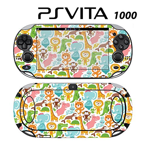 Skin Decal Cover Sticker for Sony PlayStation PS Vita (PCH-1000) - Baby's Animal Zoo -  Decals Plus