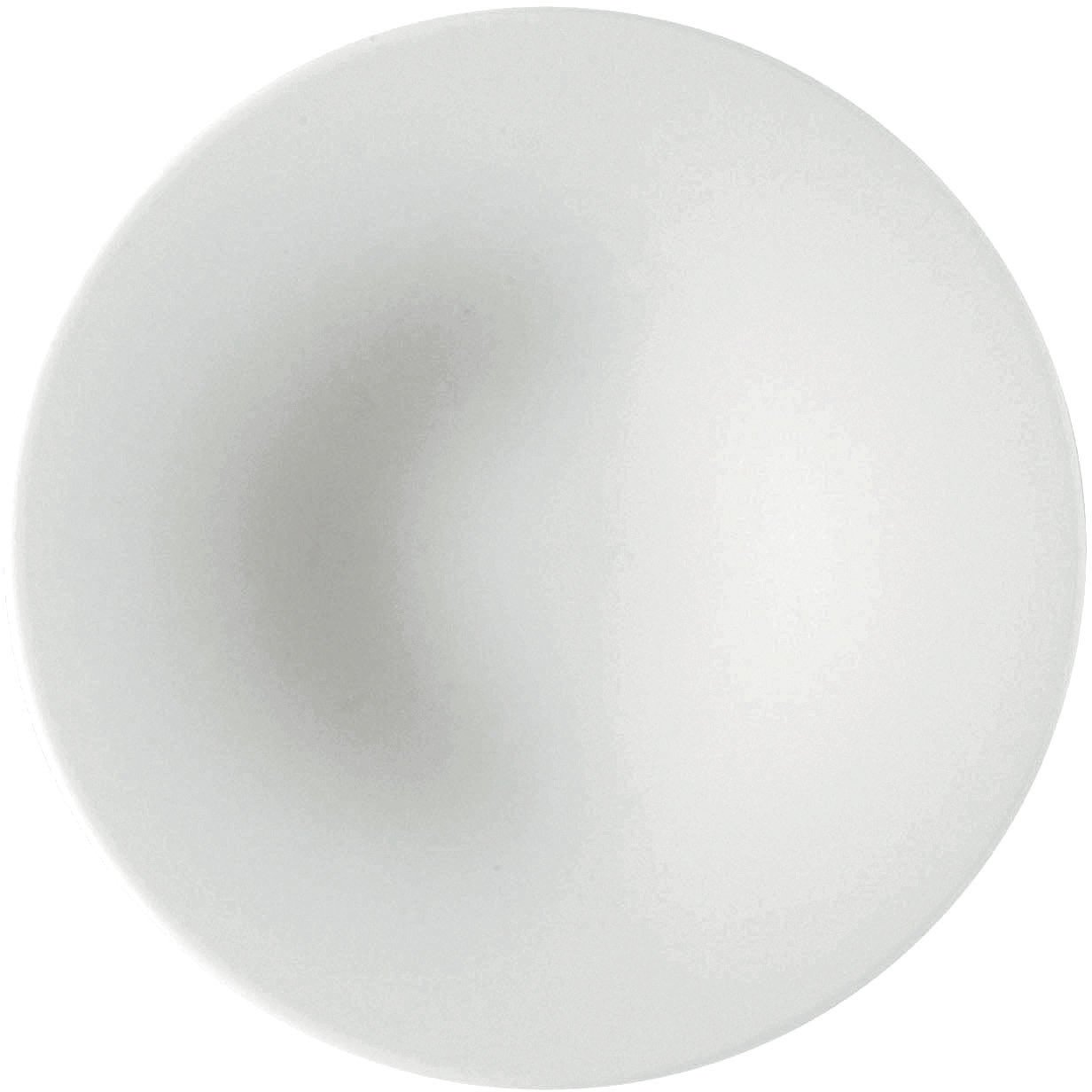 Alessi''KU'' Saucers For Mocha Cup in Porcelain (Set of 4), White