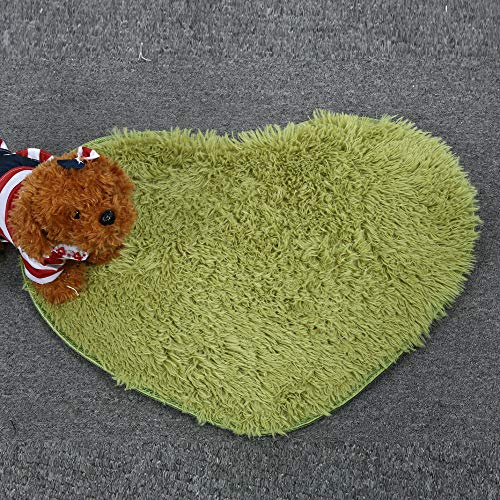 Kangma Area Rugs Soft Anti-Skid Indoor Modern Dining Room Home Bedroom Decor Child Playing Carpet Small Cute Shape of Love Shaggy Rug Floor Mat 4050cm/4028cm