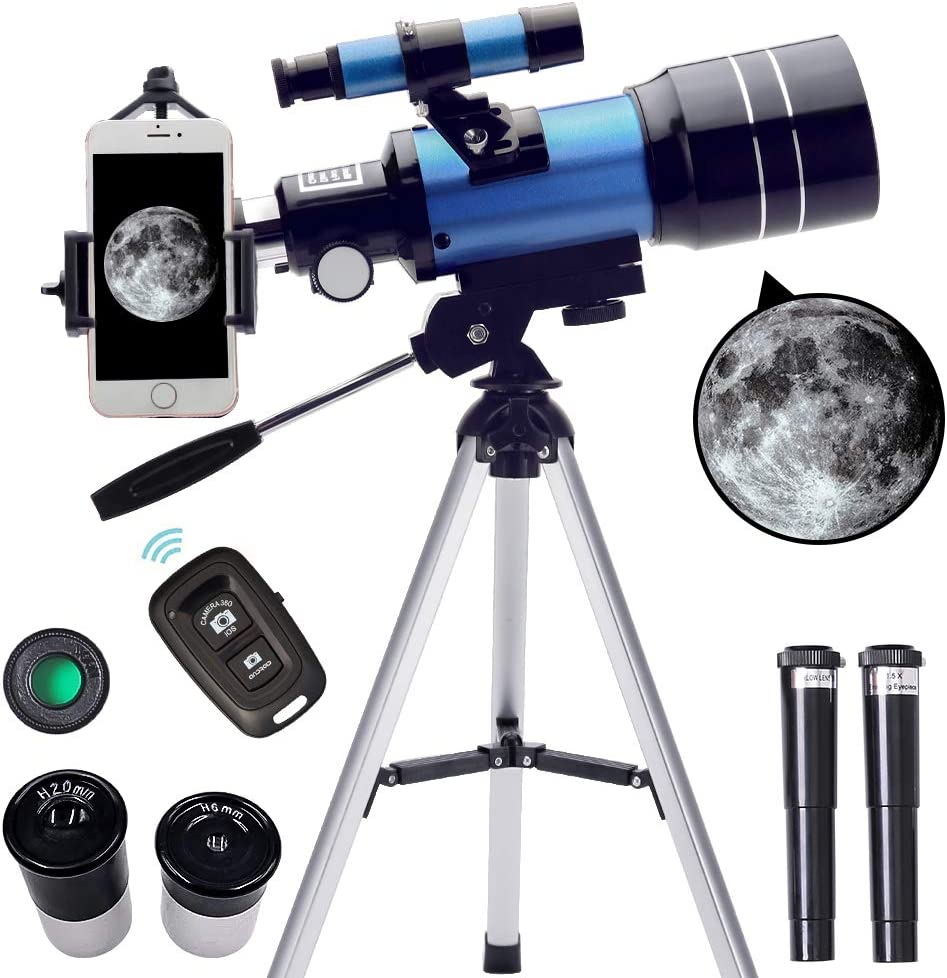 CNCBT Professional Telescope for Kids Astronomy Beginners Adults-150X Refractive Astronomical Telescope with Tripod//Phone Adapter//Finder Scope and Moon Filt