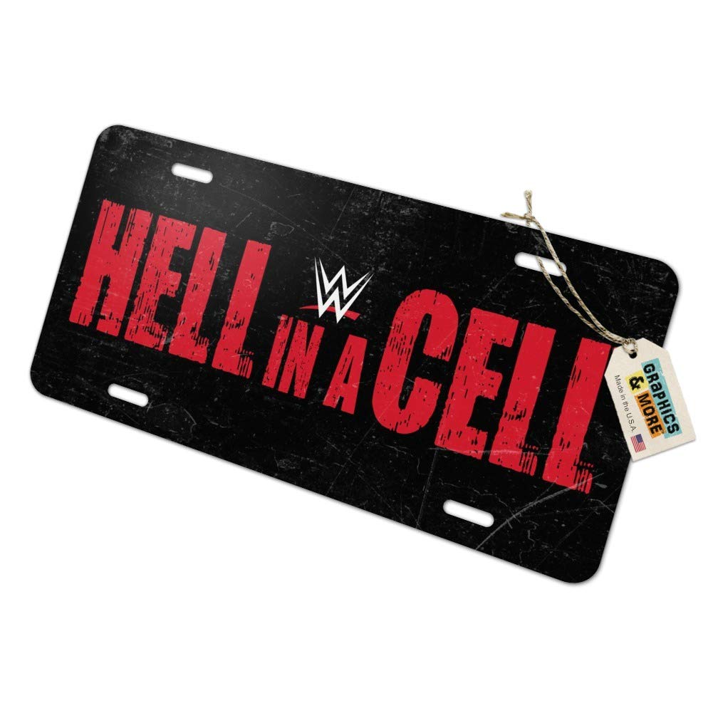 Graphics and More WWE Hell in a Cell Logo Novelty Metal Vanity Tag License Plate