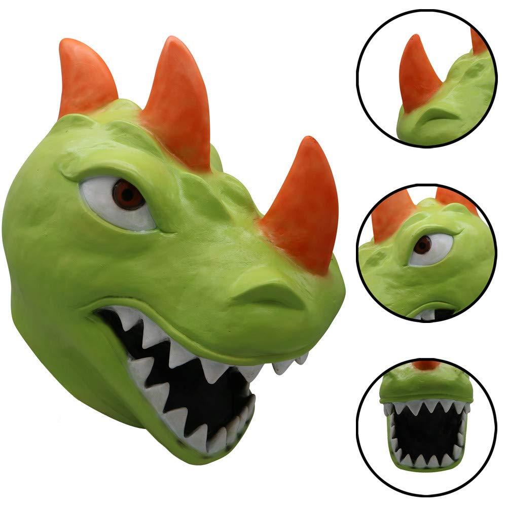 Amazon.com: Máscara de dinosaurio con diseño de orcbee para ...