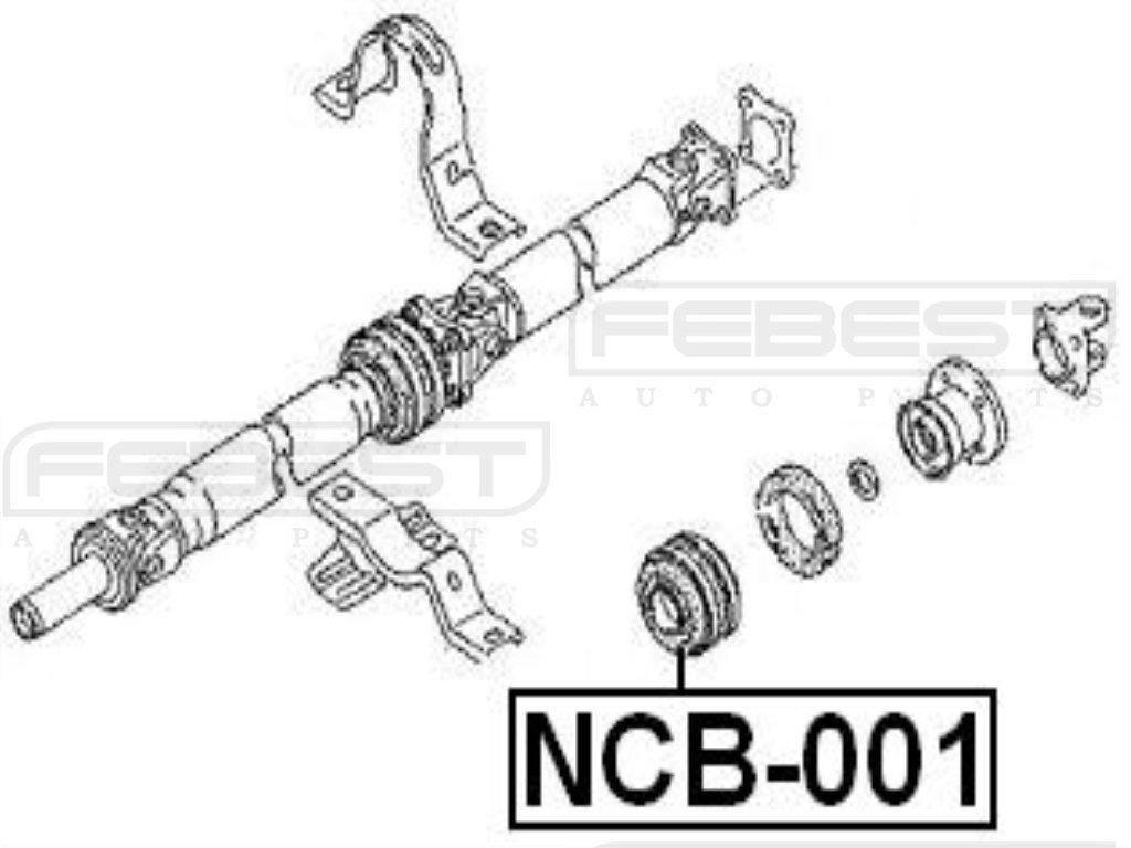 FEBEST NCB-001 Center Support Bearing