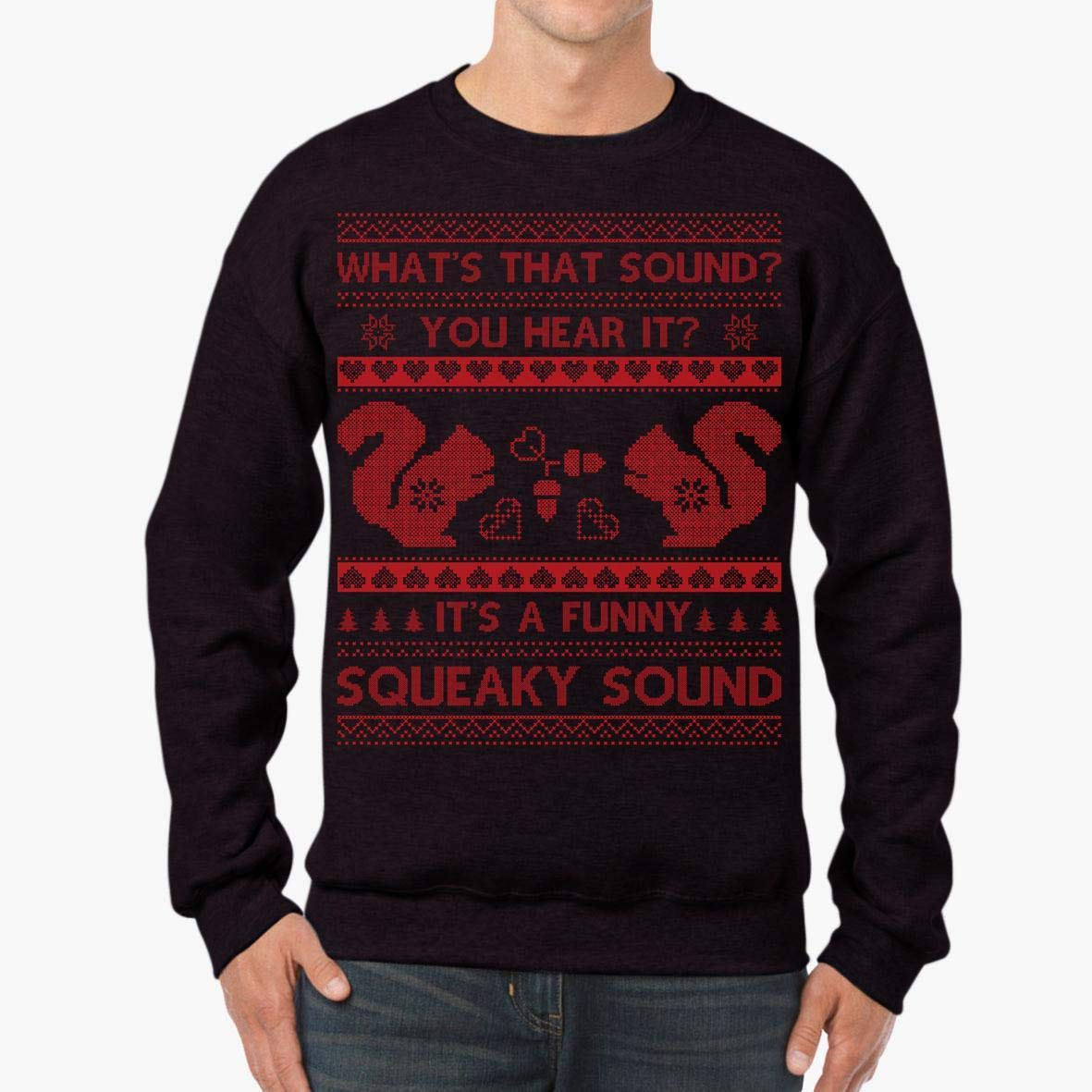 tee Doryti Its A Funny Squeaky Sound Christmas Squirrel Unisex Sweatshirt