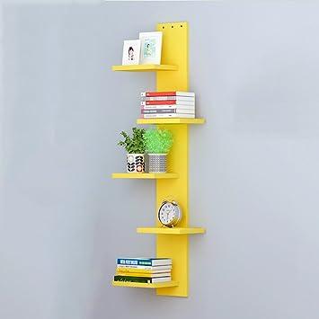 Amazon.com: LIANGJUN Wooden Wall-mounted Shelves Cube Bedroom ...