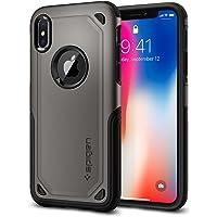 Spigen Hybrid Armor iPhone X 手机壳采用气垫技术和*握把保护苹果 iPhone X (2017) - 金属