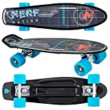 Flybar 22 Inch Complete Plastic Grip Tape Cruiser Skateboard Custom Non-Slip Deck Multiple Colors (Black)