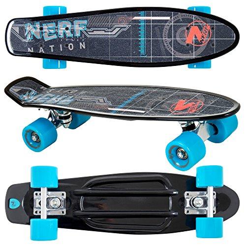 - Flybar 22 Inch Complete Plastic Grip Tape Cruiser Skateboard Custom Non-Slip Deck Multiple Colors (Black)