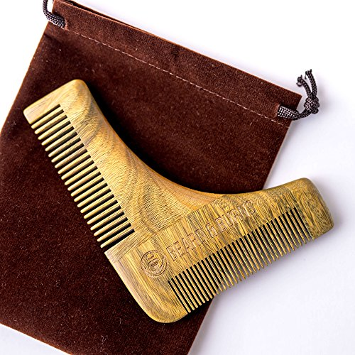 Beard Comb & Shaping Tool by Bea...