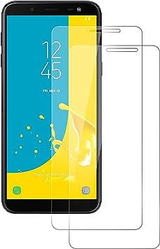 POOPHUNS Cristal Templado Samsung Galaxy J6 2018, 2-Unidades ...