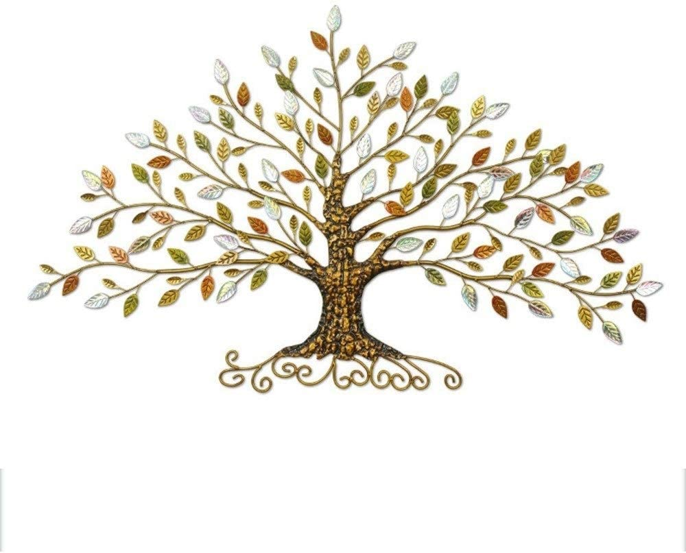 Large Oversized Tree of Life w//Laser-Cut Leaves Wall Art Sculpture 3-D Metal I//O