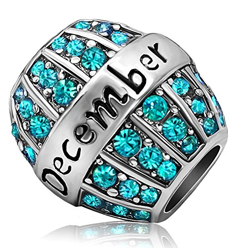 Charms Bead For Bracelets (Turquoise, December Birthstone) ()