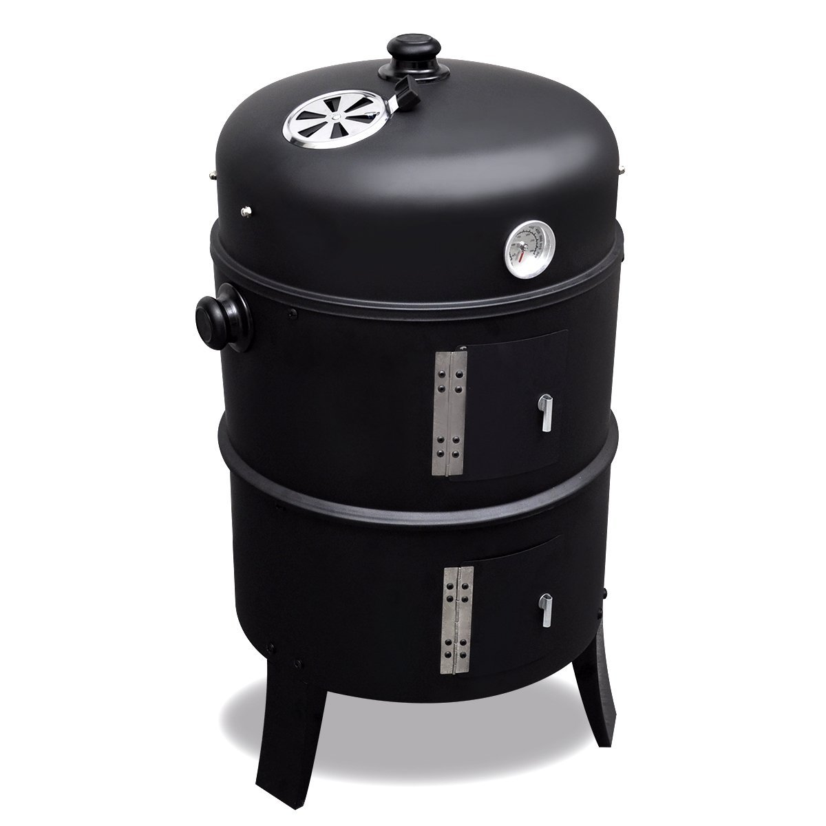ideal for your garden balcony or terrace 01311 BBQ Smoker Barbecue grill with lid and vertical modular smoker with thermometer and adjustment air flow to regulate the heat
