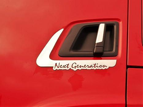 Poign/ée de porte gauche//droite en acier inoxydable pour mod/èles Scania S R 2016 et plus.