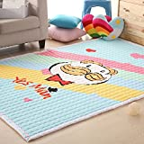 Aqua Kids area rug Unique Cartoon Yes Man Carpet, washable rug Children Floor Mat 4.7 Ft. X 6.3 Ft