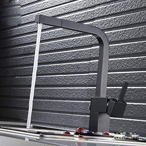 Decorry Neue Schwarz Alle Kupfer Küchenarmatur Heiß Und Kalt Geraucht Ziehen Küche Waschbecken Wasserhahn Mischer 360 Grad Deck Montiert