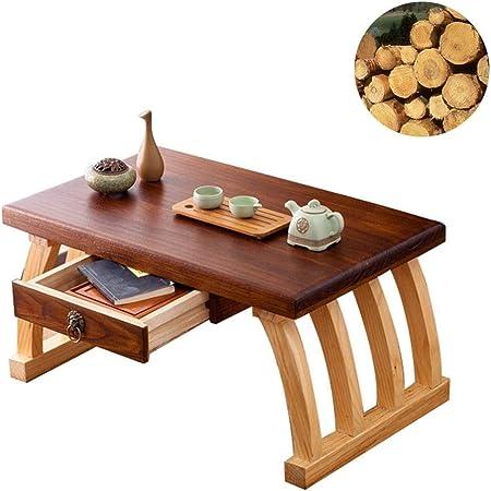 Muebles y Accesorios de jardín Mesas Mesa de café Tatami Table ventanal de Madera Maciza Cama Retro Mesa Baja balcón Mesa de la Ventana de la bahía Japonesa con cajón: Amazon.es: Hogar