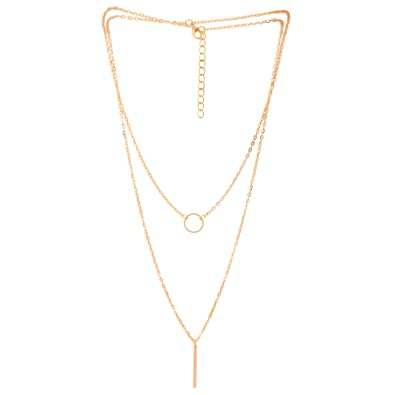 women com amazon gold stick metal charming necklace pendant neck dp ring