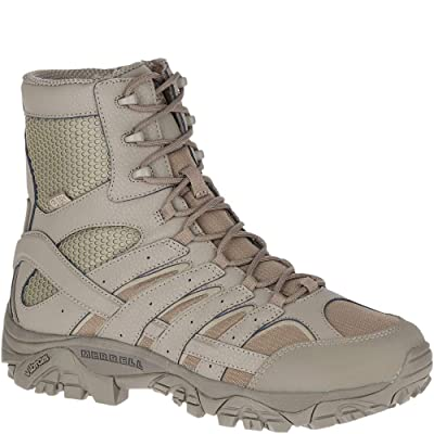 "Merrell Moab 2 8"" Tactical Waterproof Boot Men 14 Brindle: Shoes"