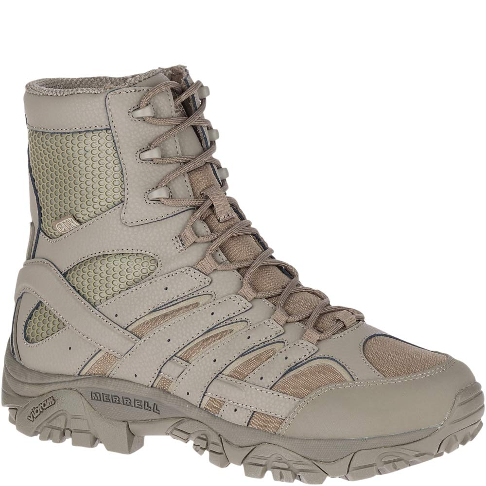 Merrell Moab 2 8'' Tactical Waterproof Boot Wide Men 8.5 Brindle