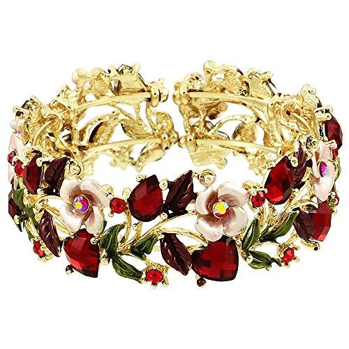 Flowers Red Gold Bracelet - 4