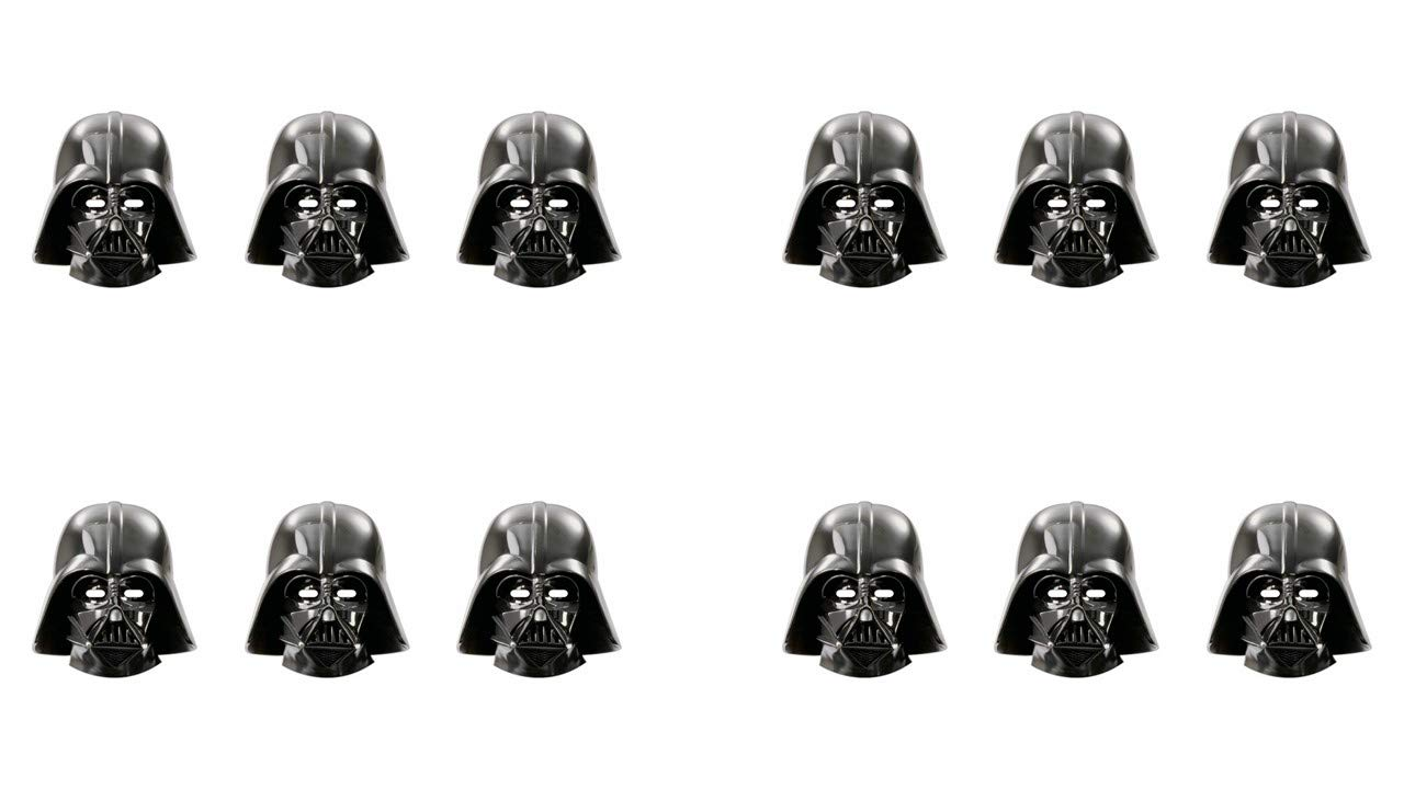 ALMACENESADAN 2565; Pack 12 mascaras Star Wars, Darth Vader ...