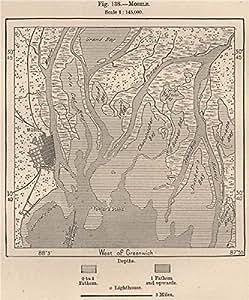 Amazon Com Mobile Alabama 1885 Old Map Antique Map