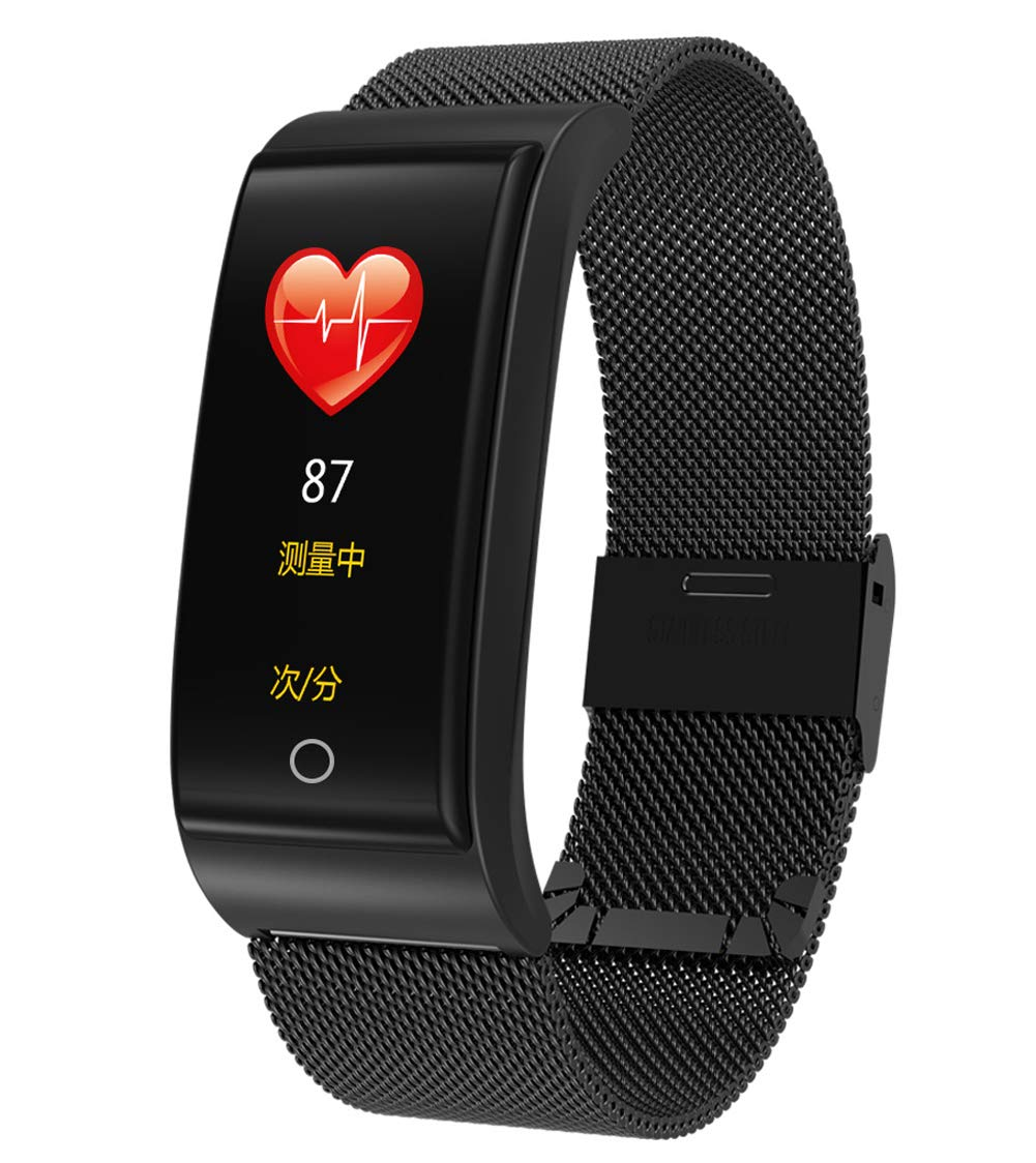 Smart Bracelet, Multiple Sports Mode Waterproof Activity Tracker Sleep Monitor for Android iOS Mobile Fitness Watch-Black by YANGYA