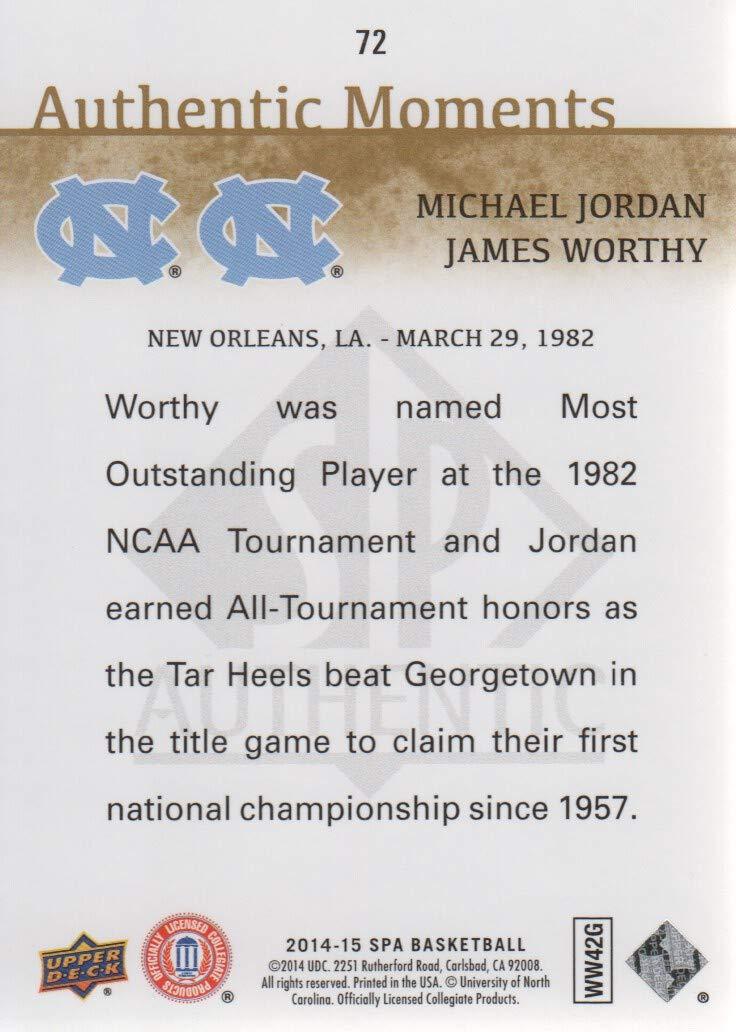 d55739c91 2014-15 SP Authentic Basketball  72 Michael Jordan James Worthy Moments  North Carolina Tar Heels at Amazon s Sports Collectibles Store
