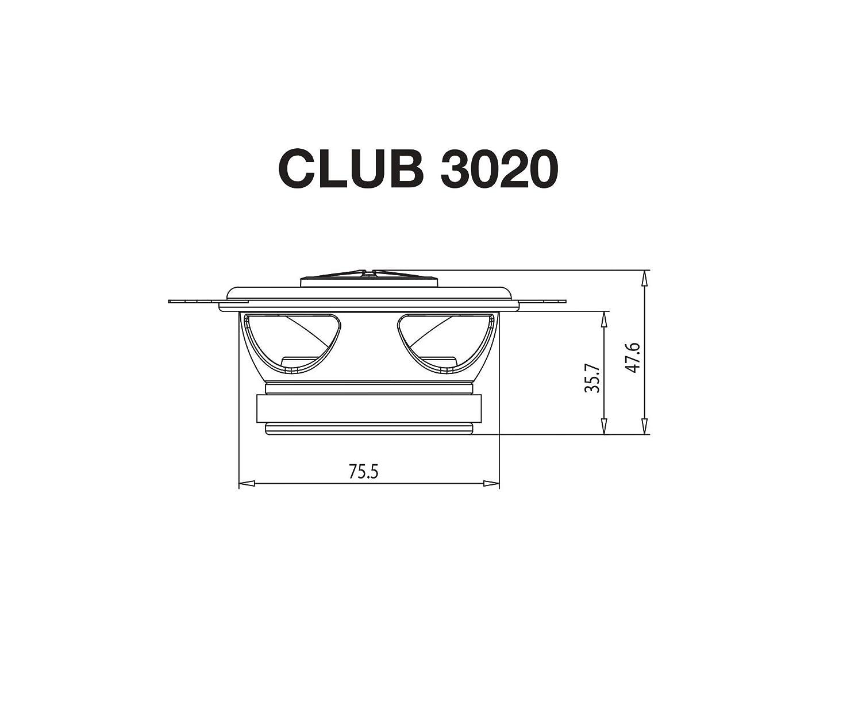 Tieft/öner Hocht/öner und Frequenzweichen Schwarz Komponenten Stereo-Lautsprechersystem f/ür Auto-HiFi Inkl JBL Club 6500C 6,5 165mm