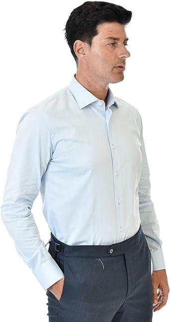 Marcus - Camisa de hombre de color celeste: Amazon.es: Ropa y ...