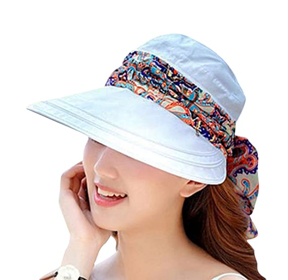97f2d504562 able Casual UV Protection Cap Sun Visor Lightweight Visor Wide Brim Summer  Golf Sun HatWomens Visor