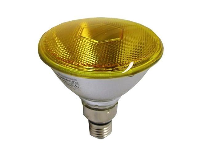Lampada faretto par38 luce gialla e27 23w per esterno ip65: amazon